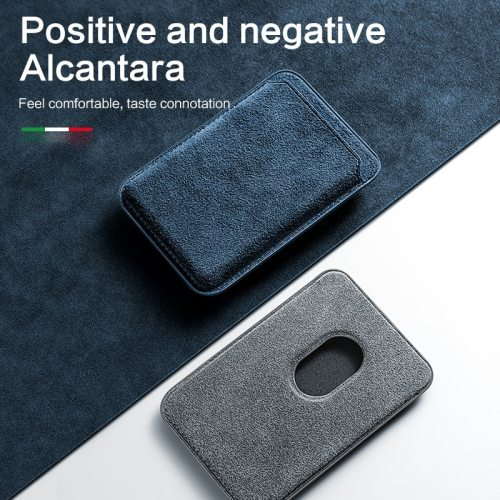 Alcantara MagSafe Magnetic Card Holder Wallet Bag For iPhone 12 mini Pro ProMax
