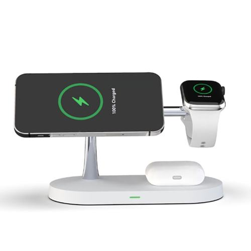 Multi-function 5-in-1 Magnetic 15W Wireless Fast Charging Phone Smartwatch Charger Stand for iPhone 12 Series