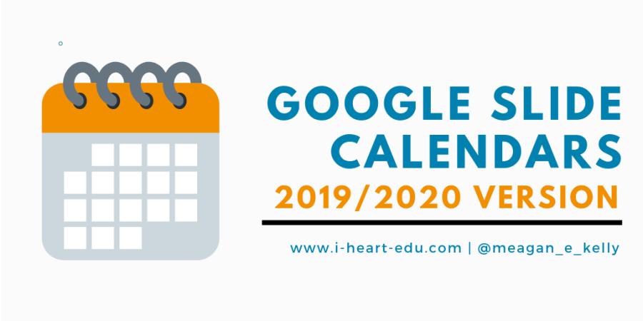 Popular Calendars 2020 Google Slide Calendars: 2019/2020 Version – i edu