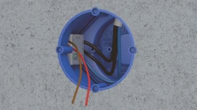 Das Innere der Dose bietet 70 Prozent mehr Klemmraum für die Installation und Unterbringung von Elektronikbauteilen als handelsübliche Betonschalterdosen. (Bild: Primo GmbH)