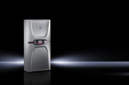 Unter dem Namen Blue e+ bietet Rittal die derzeit effizienteste Kühlgeräteserie auf den Markt und erweitert jetzt mit einer neuen 1,6-kW-Klasse seine Gerätefamilie im unteren Leistungsbereich. (Bild: Rittal GmbH)