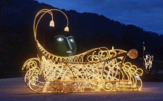 Lichteffekte und Musik gehen beim alljährlichen Lichtfestival in den Swarovski Kristallwelten eine spektakuläre Symbiose ein. (Bild: Swarovski Kristallwelten)