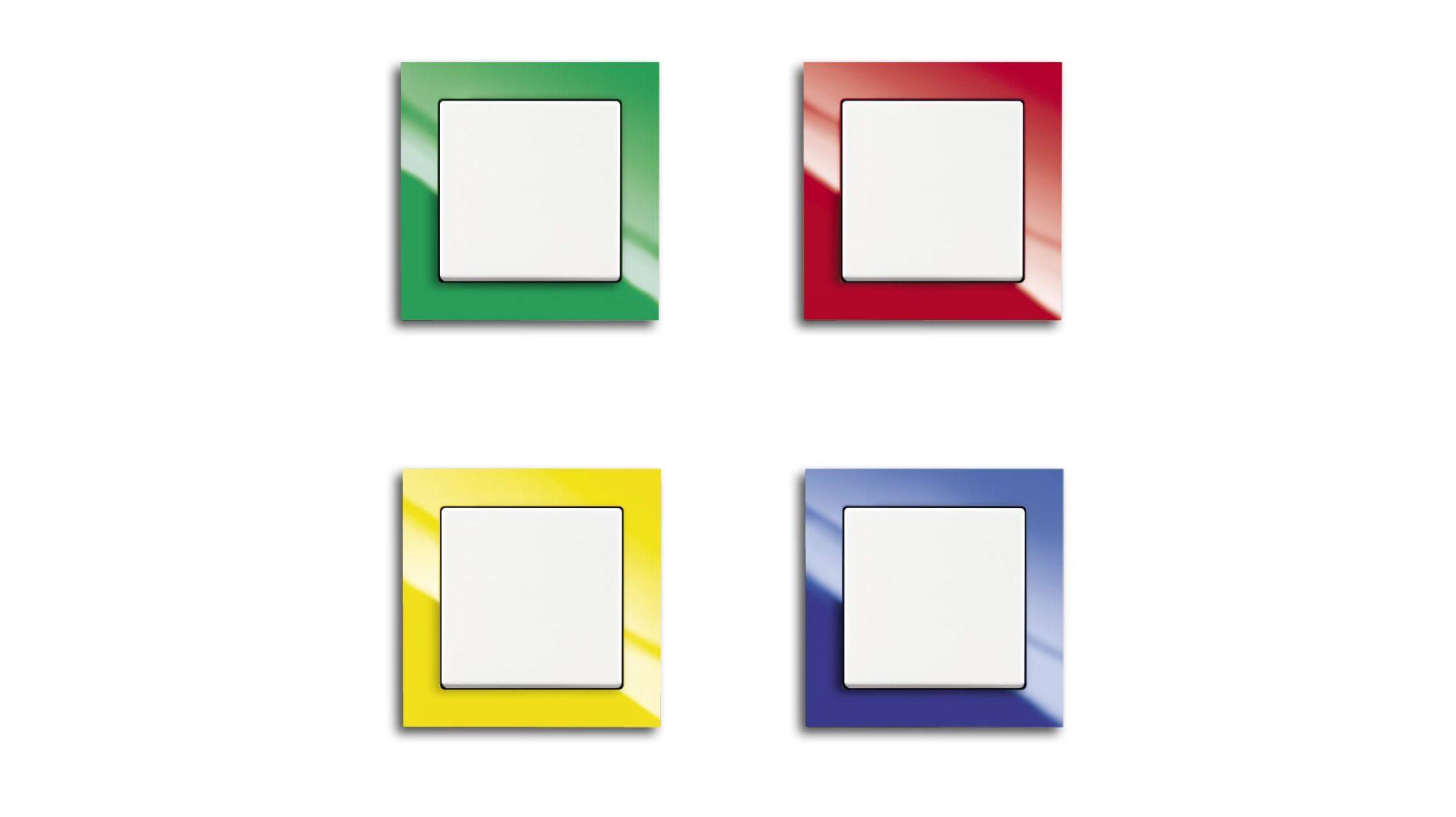 Das Farbspektrum von Busch-axcent zeichnet sich durch bunte Vielfalt aus. Es wird deshalb auch gerne in öffentlichen Gebäuden als Leitsystem eingesetzt. (Bild: ABB AG)