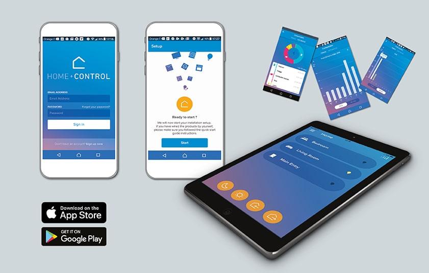 Legrand hat die App »Home + Control« für Valena Life/Allure with Netatmo bewusst einfach gehalten, damit auch nicht technik-affine Anwender sie leicht bedienen können. (Bild: Legrand Austria GmbH)