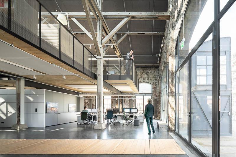 Architekturbüro, hoher Raum