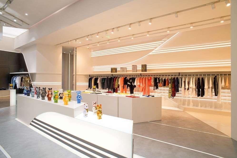 ENG Fashion Shop hanging rail