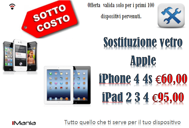 cambiare display iphone 4s costo