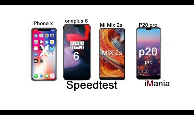 oneplus 6 p20 pro iphone x mi mix 2s speed test imania varese