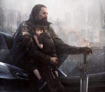 FF15イメージCG父と子のサムネイル画像