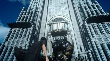 FF15都庁と鉄巨人