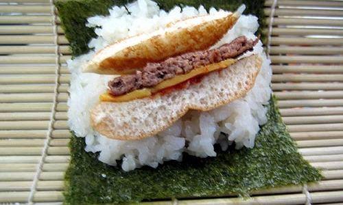 ハンバーガー寿司