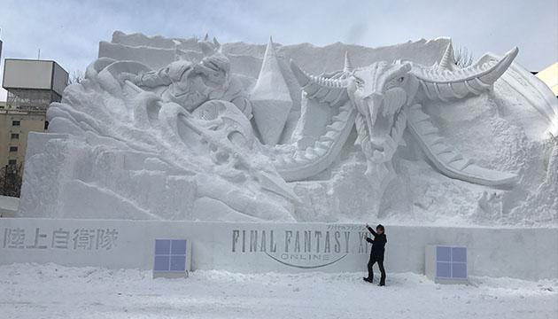 FF14さっぽろ雪まつり雪像