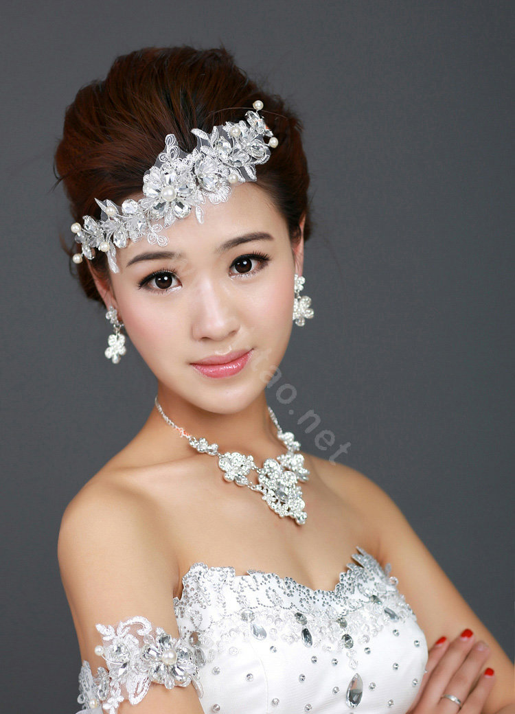 Buy Wholesale Wedding Bride Jewelry Crystal Lace Flower