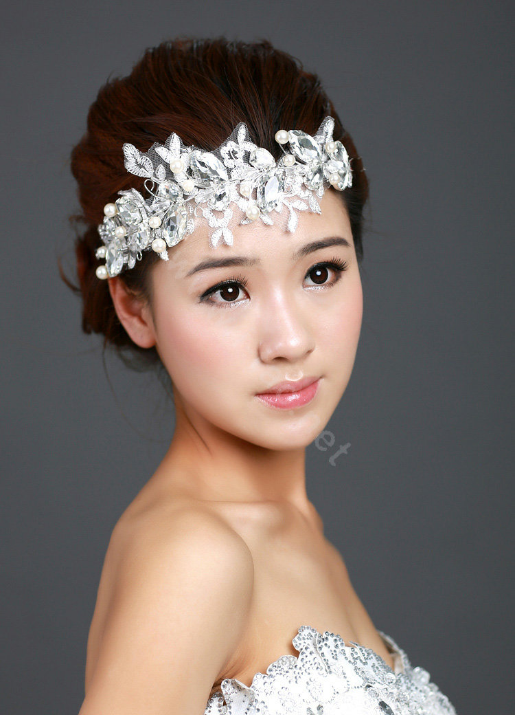 Buy Wholesale Wedding Bride Jewelry Crystal Pearl Lace