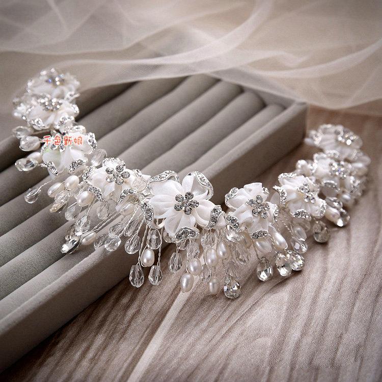 Buy Wholesale Luxury Wedding Rhinestone Pearl Crystal