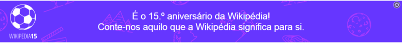 Wikipedia banner 15 anos