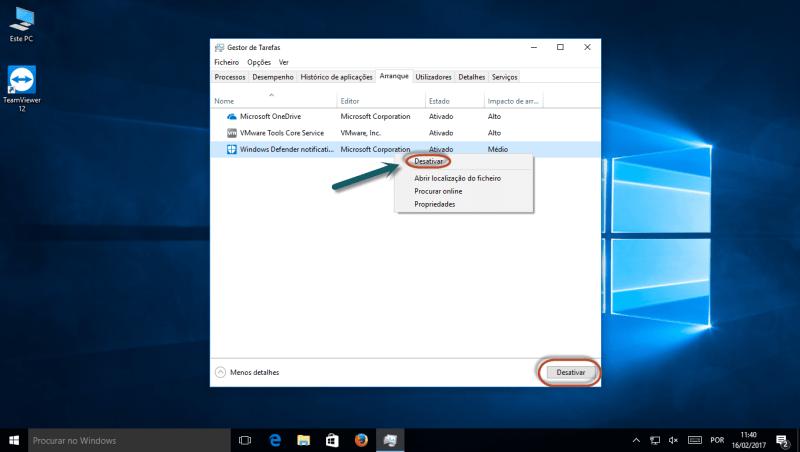Arranque do Windows - Gestor de Tarefas