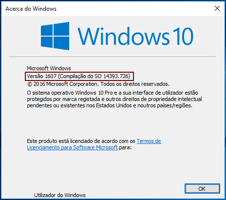 Acerca do Windows