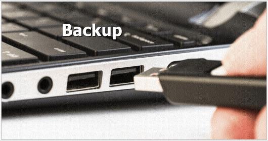 Pendrive notebook - Backup