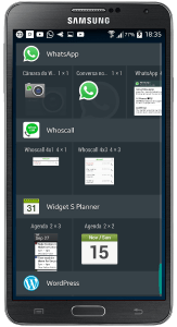 WhatsApp 3 widgets