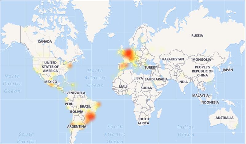 Mapa de falhas WhatsApp 03 Maio 2017