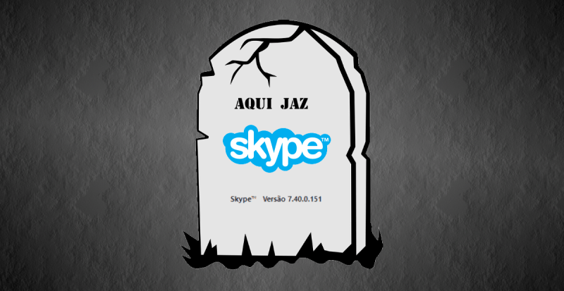 Fim do Skype clássico 7.40