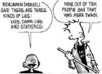 Calvin and Hobbes Lies, Damned lies and Statistics
