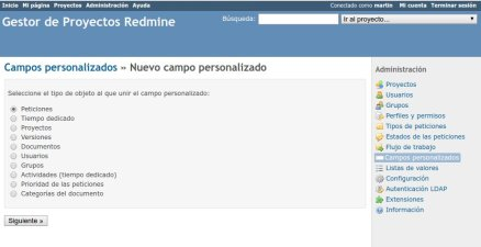 Customización de Redmine
