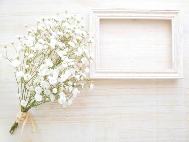 可憐なかすみ草の花束