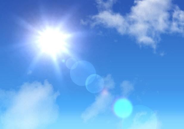 太陽の光にあてる