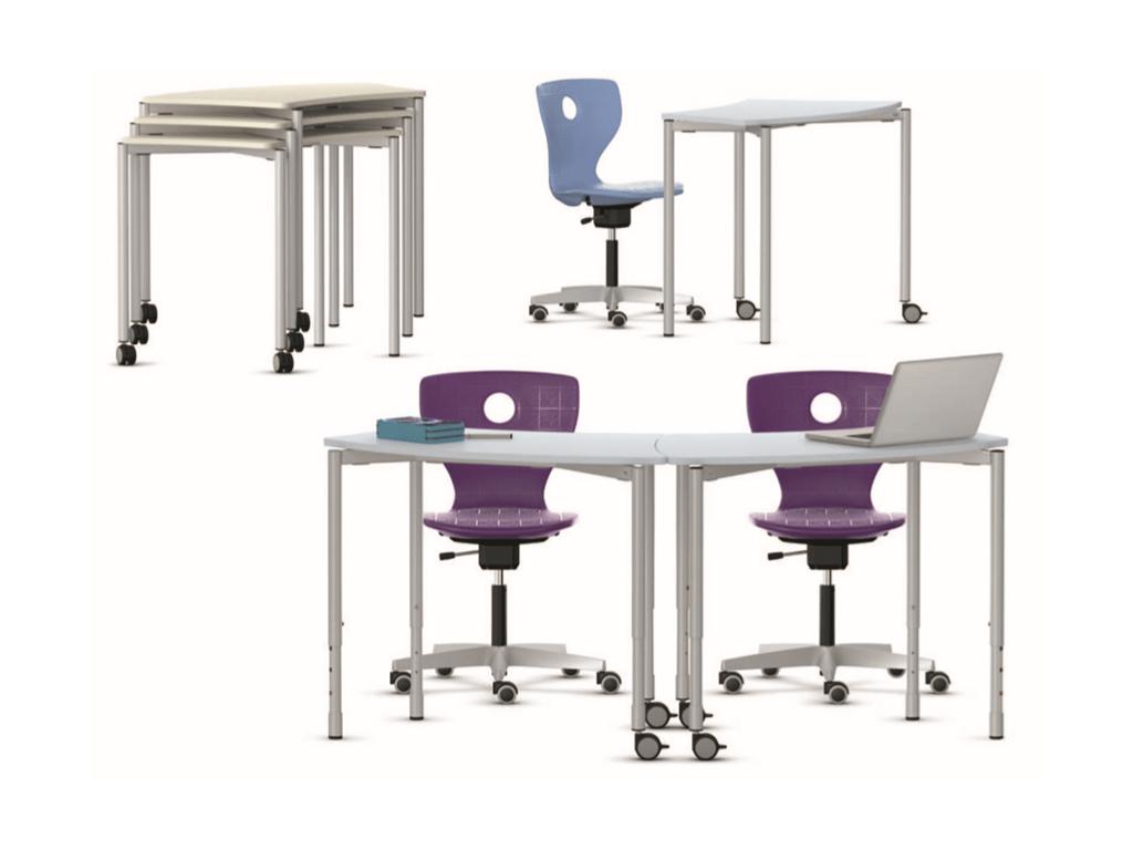 table modulable et empilable pour salle