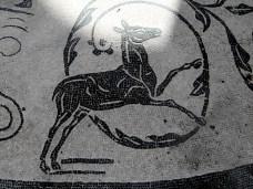 1057 Ostia - Terme dei Sette Sapienti - runde Halle - Raum 7 - Hirschkuh