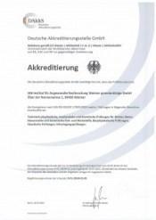 Bild Deckblatt der Zertifizierungsurkunde