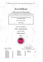 PDF Zertifikat VMPA-B-2157