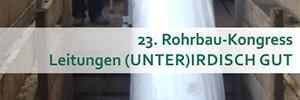 Banner 23. Rohrbau-Kongress