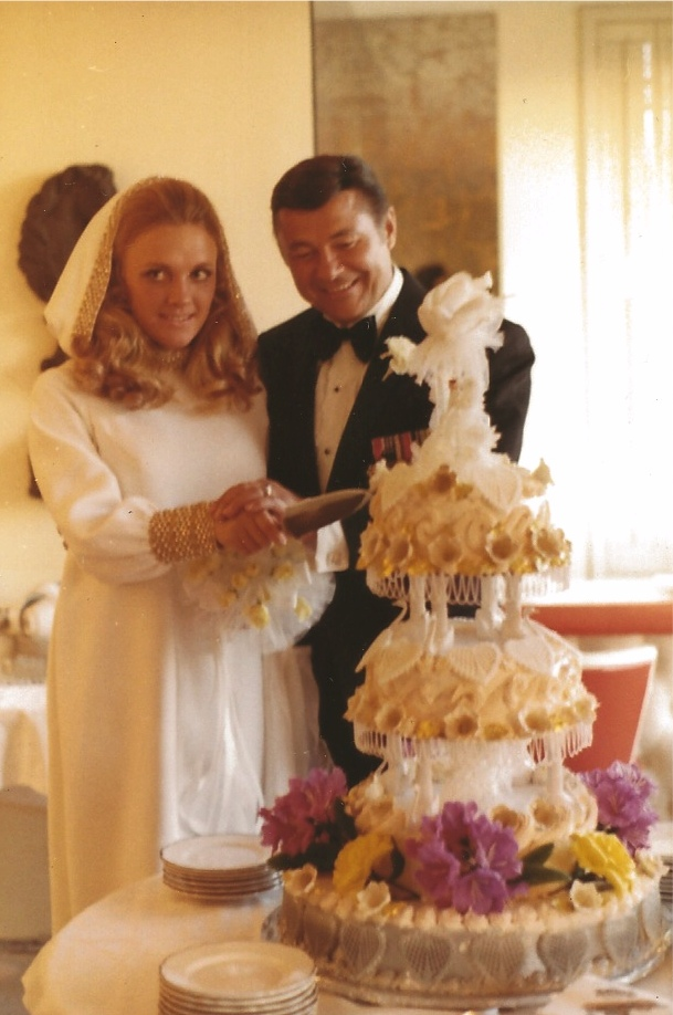 Helene And Dick Lassiter On Their Wedding Day