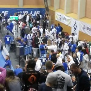 BJJ warm up area