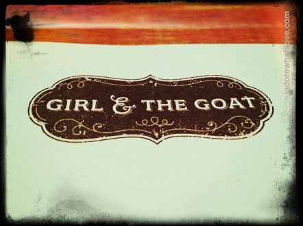 Restaurant Review: The Girl and the Goat at iadorewhatilove.com