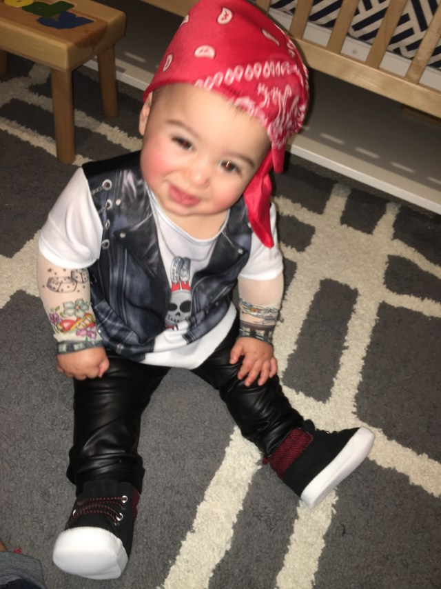 I Adore What I Love - Let's Get Reacquainted - Biker Brody First Halloween 2015 Pic