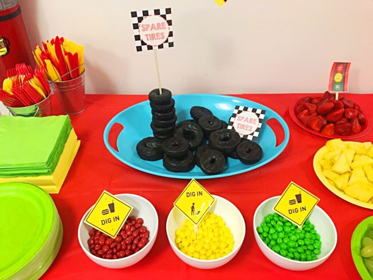 I Adore What I Love Blog // Brodys First Birthday Party THE DETAILS // Spare Tires and Skittles // www.iadorewhatilove.com #iadorwhatilove