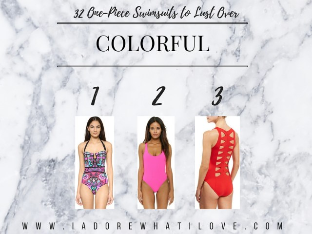 I Adore What I Love Blog // 31 ONE-PIECE SWIMSUITS TO LUST OVER // colorful swimsuits // www.iadorewhatilove.com #iadorewhatilove
