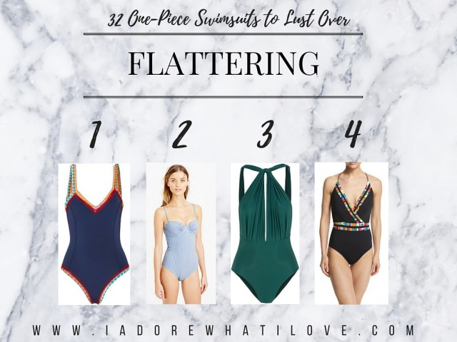 I Adore What I Love Blog // 31 ONE-PIECE SWIMSUITS TO LUST OVER // flattering swimsuits // www.iadorewhatilove.com #iadorewhatilove