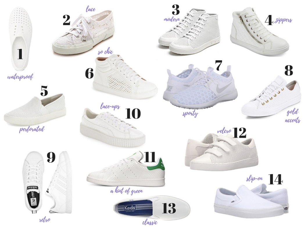 I Adore What I Love Blog // 14 WHITE SNEAKERS TO OBSESS OVER // www.iadorewhatilove.com #iadorewhatilove