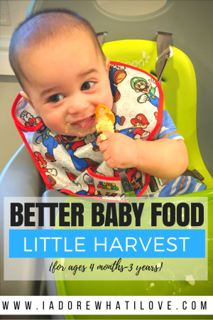 I Adore What I Love Blog // Better Baby Food: Little Harvest // www.iadorewhatilove.com #iadorewhatilove