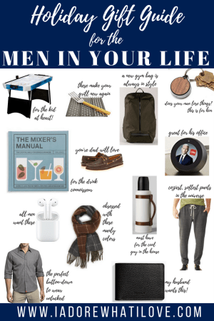 I Adore What I Love Blog // Holiday Gift Guide for the MEN in your life // www.iadorewhatilove.com #iadorewhatilove