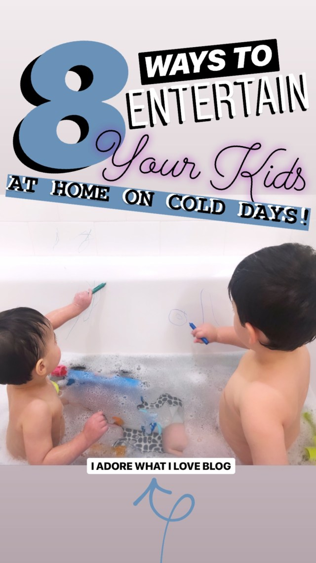 8 Ways to Entertain Your Kids At Home on Cold Days :: I Adore What I Love Blog :: www.iadorewhatilove.com #iadorewhatilove