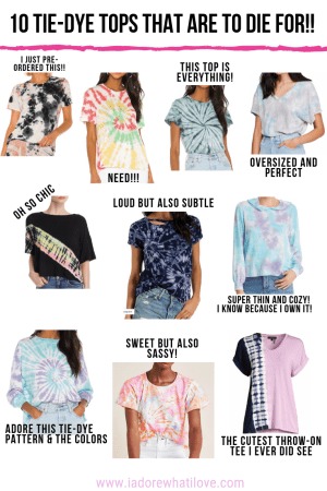 10 TIE-DYE TOPS THAT ARE TO DIE FOR :: I Adore What I Love Blog :: www.iadorewhatilove.com #iadorewhatilove