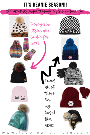THE CUTEST BEANIES FOR YOUR BOY AND GIRL TODDLERS THIS WINTER! :: I Adore What I Love Blog :: www.iadorewhatilove.com #iadorewhatilove
