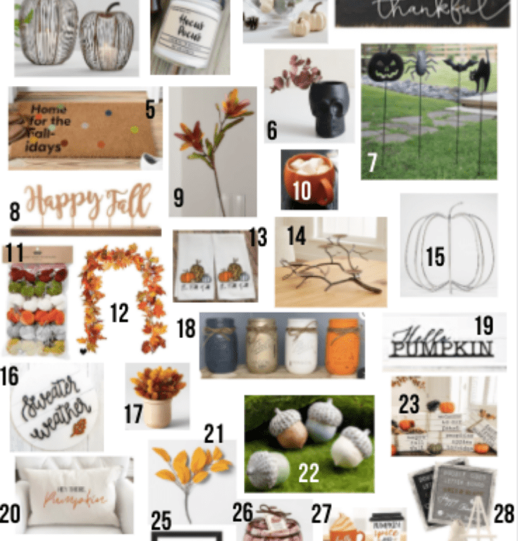 Fall is here!! I found 30 CHIC fall decor finds to snag today! Get excited to fall-ify your space into a gorgeous autumn wonderland!