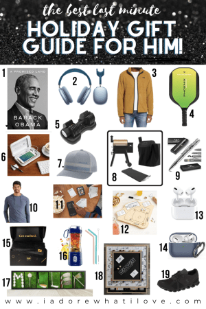 This is the BEST gift guide for HIM you'll find. These last minute gifts are fit for every MAN in your life! That's a promise!!